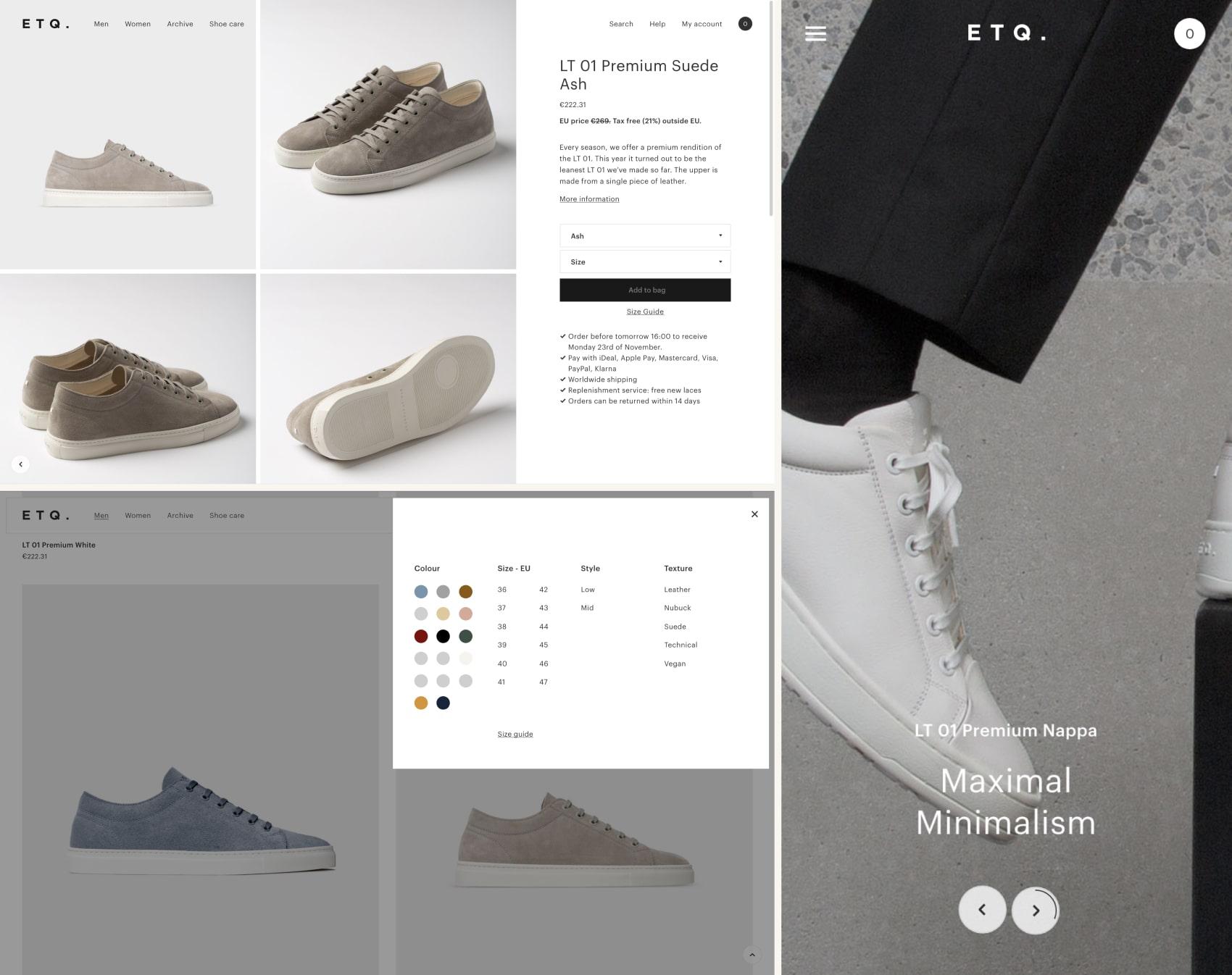 дизайн интернет магазина ETQ
