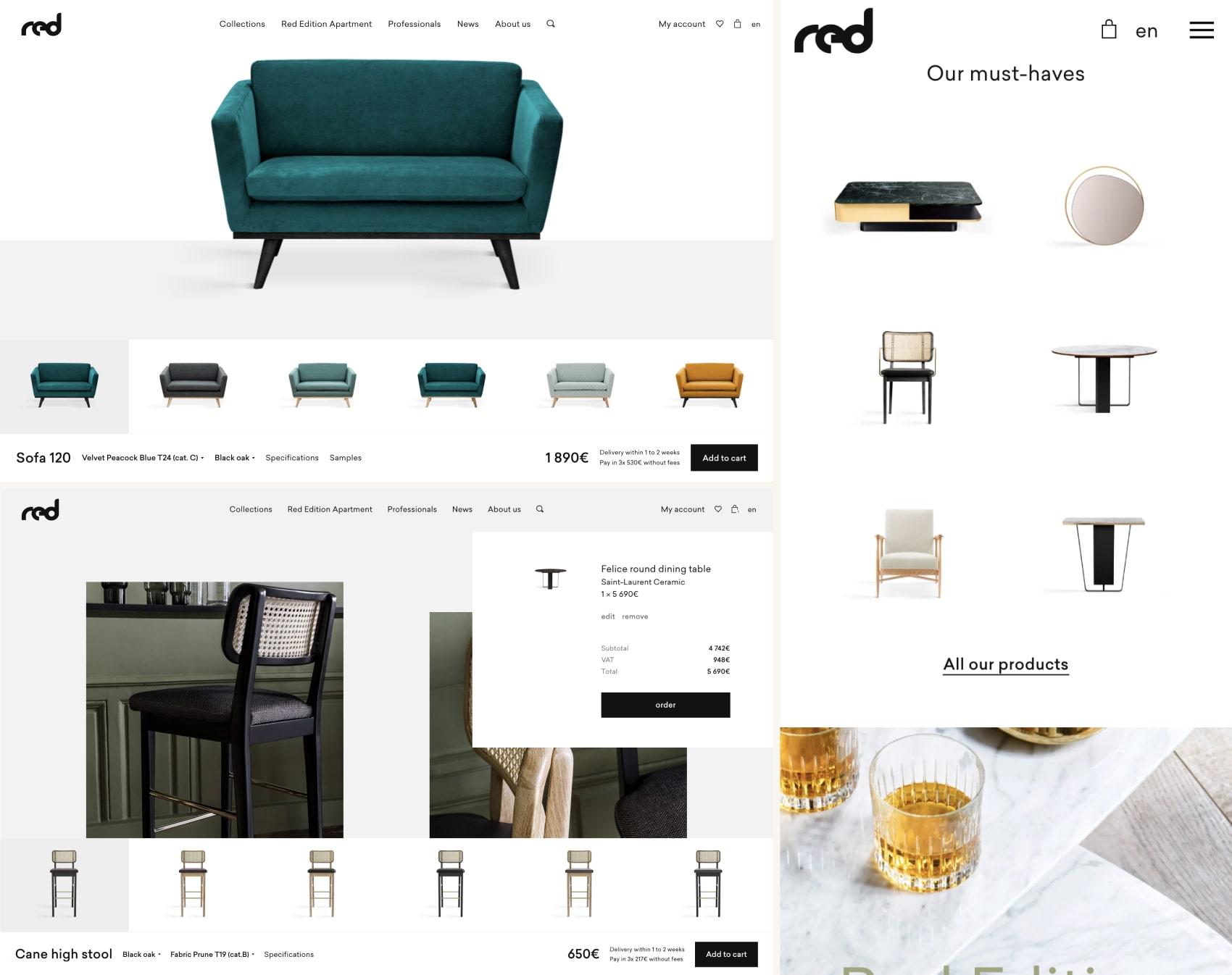 дизайн интернет магазина rededition.com