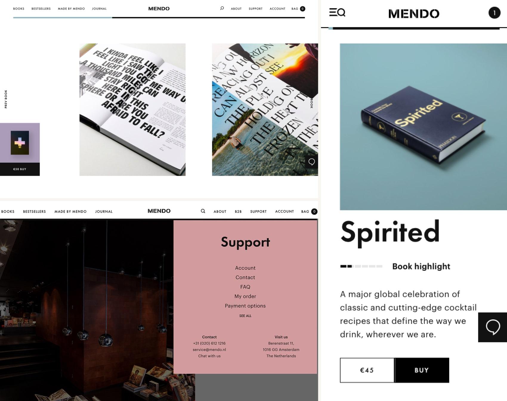дизайн интернет магазина Mendo