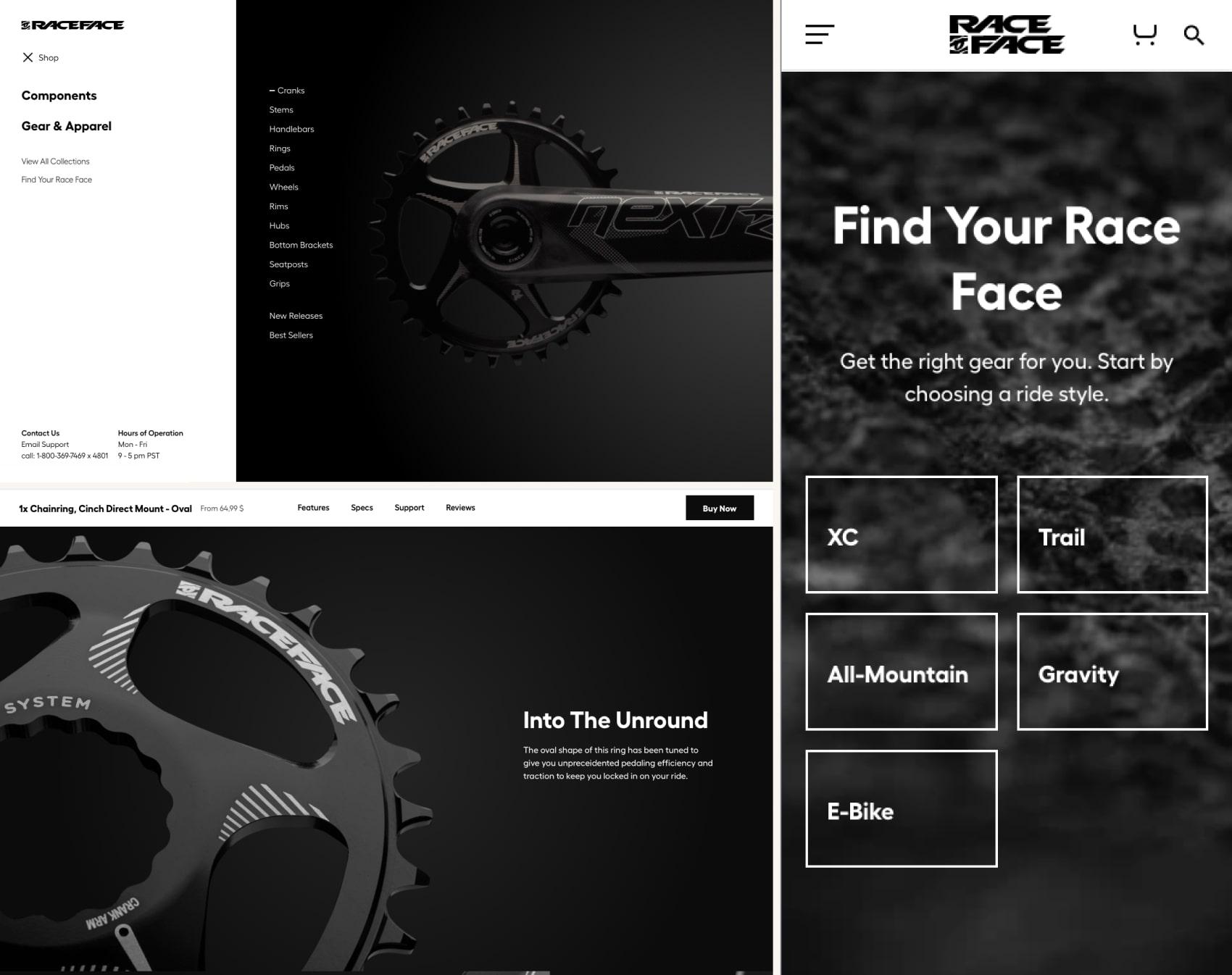дизайн интернет магазина Raceface