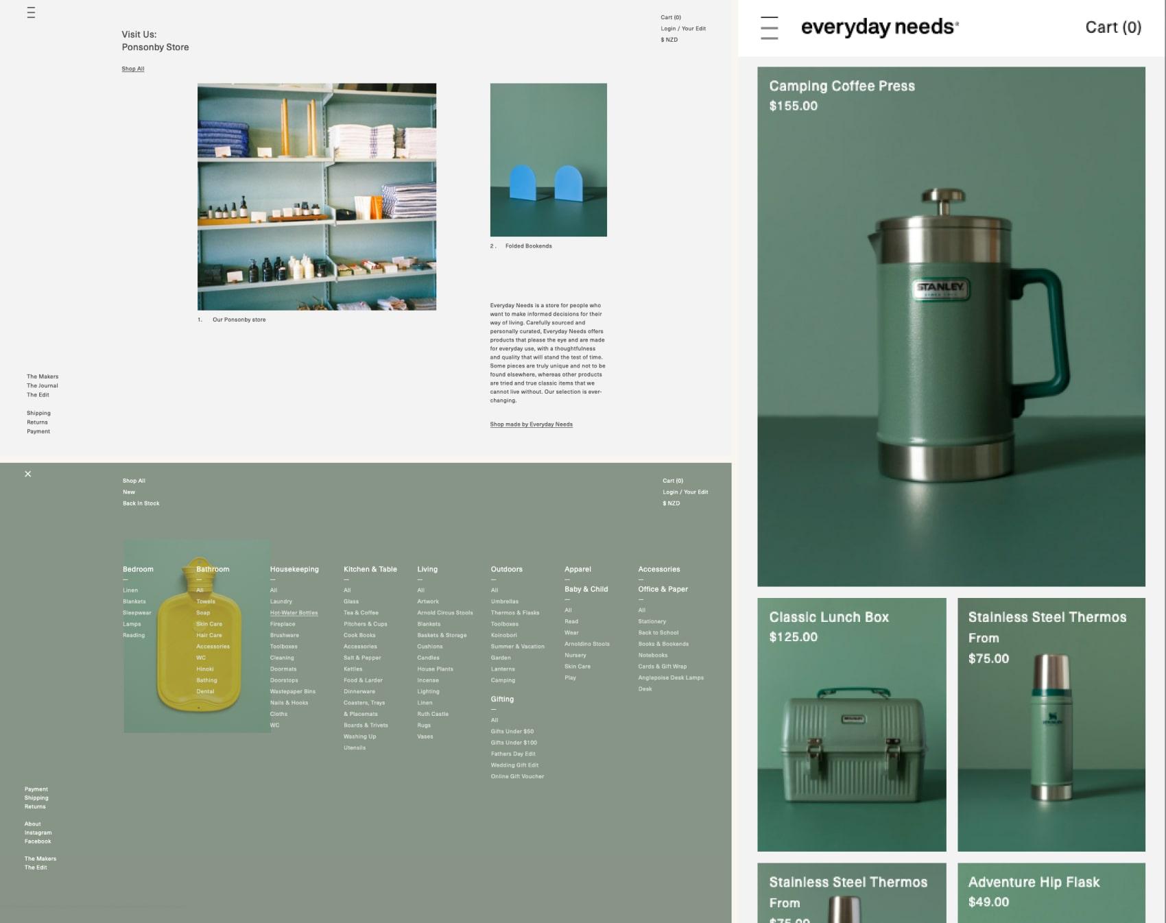 дизайн интернет магазина Everyday-needs