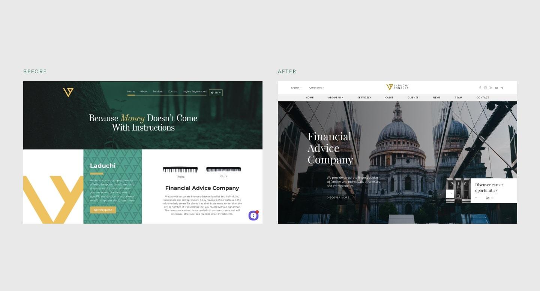 дизайн корпоративного сайта для финансовой компании